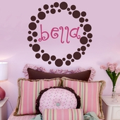 Bella's Dots Custom Personalized Wall Decal