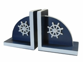 Bella Ship Wheel Bookends
