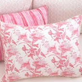 Berry Anouk Decorative Boudoir Pillow with Natural Trim