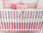Berry Anouk Plump Crib Bumper with Natural Trim