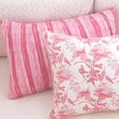 Berry Anouk Smocked Decorative Boudoir Pillow in Berry Chloe