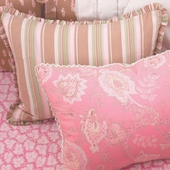 Berry Camille Decorative Boudoir Pillow in Honey Chloe with Ruffle