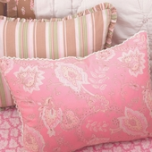 Berry Camille Decorative Boudoir Pillow with Honey Trim