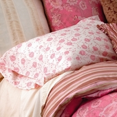 Berry Camille Pillow Case Pair in Berry Arpege