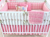 Berry Manon Plump Crib Bumper with Celery Piping