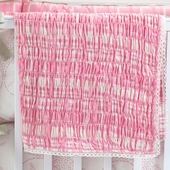 Berry Manon Smocked Receiving Blanket in Shell Gabriel