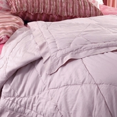 Berry Marceline Quilted Coverlet in Blush Sateen