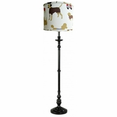 Best Friend Red Shade with Black or White Metal Floor Lamp