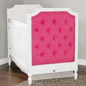 Beverly Crib with Tufted Panels in Your Fabric