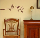Bird Branch Custom Wall Decal