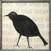 Bird Silhouette Art Print