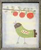 Bird with Cherries Art Print