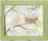 Birdy Blue Diamond Framed Giclee Print