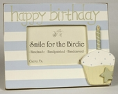 Birthday Cupcake Boy Picture Frame