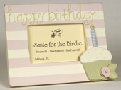 Birthday Cupcake Girl Picture Frame