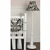 Black Damask Baldwin Floor Lamp