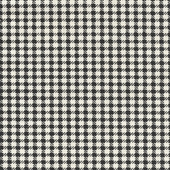 Black & Ecru Herringbone Check Fabric