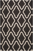 Black Fancy Diamond Fallon Hand-Woven Rug