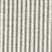 Black On Cream Ticking Fabric