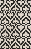 Black Spades Zuna Hand-Tufted Rug