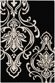 Black & White Candice Olson Hand-Tufted Rug