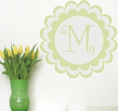 Bloomster Initial Custom Personalized Wall Decal