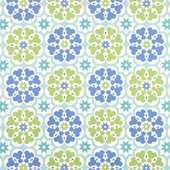 Blossom in Blue Fabric
