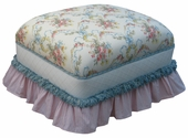 Blossoms & Bows Adult Club Ottoman - Stationary or Glider