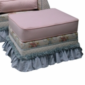 Blossoms & Bows Adult Empire Ottoman - Stationary or Glider