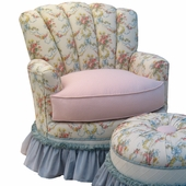 Blossoms & Bows Adult Princess Glider Rocker Chair - Foam or Down