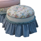 Blossoms & Bows Adult Princess Stationary Ottoman