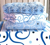 Blue Dark Swirl Changing Pad Cover