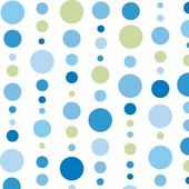 Blue Dot Line Fabric