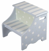 Blue Dots & Stripes Step Stool