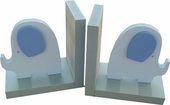Blue Elephant Bookends