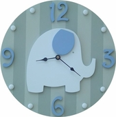 Blue Elephant Wall Clock