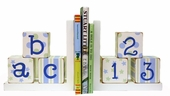 Blue & Green ABC 123 Bookends
