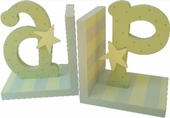 Blue & Green Initial Bookends