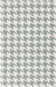 Blue Houndstooth Frontier Hand-Woven Indoor/Outdoor Rug