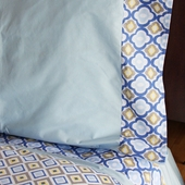 Blue Ikat Sheet Set