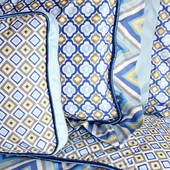 Blue Ikat Square Accent Pillow