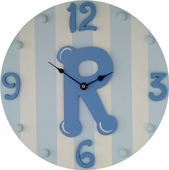 Blue Initial Wall Clock