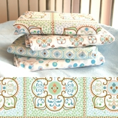 Blue Large Moroccan Changing Pad Cover