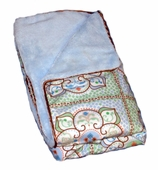Blue Large Moroccan Piped Blanket