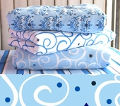 Blue Light Swirl Changing Pad Cover