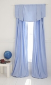 Blue Linen/Cotton Window Panel