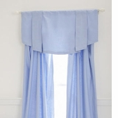 Blue Linen/Cotton Window Valance