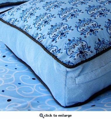 Blue Luxe Square Accent Pillow