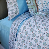 Blue Modern Vintage Sheet Set