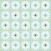 Blue Octagon Fabric